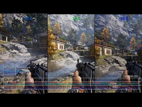 Far Cry 4 Ps4 Vs Xbox 360 Ps3 Gameplay Frame Rate Test Youtube