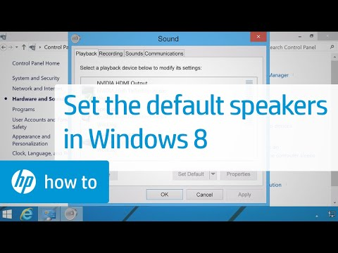 Setting The Default Speakers In Windows 8 | HP Computers | HP