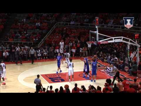 Illinois Men's Basketball Highlights Vs American 12/6/14