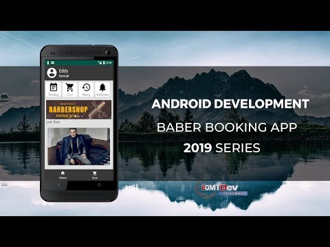 Android Development Tutorial - Barber Booking App part 3 Home Screen thumbnail