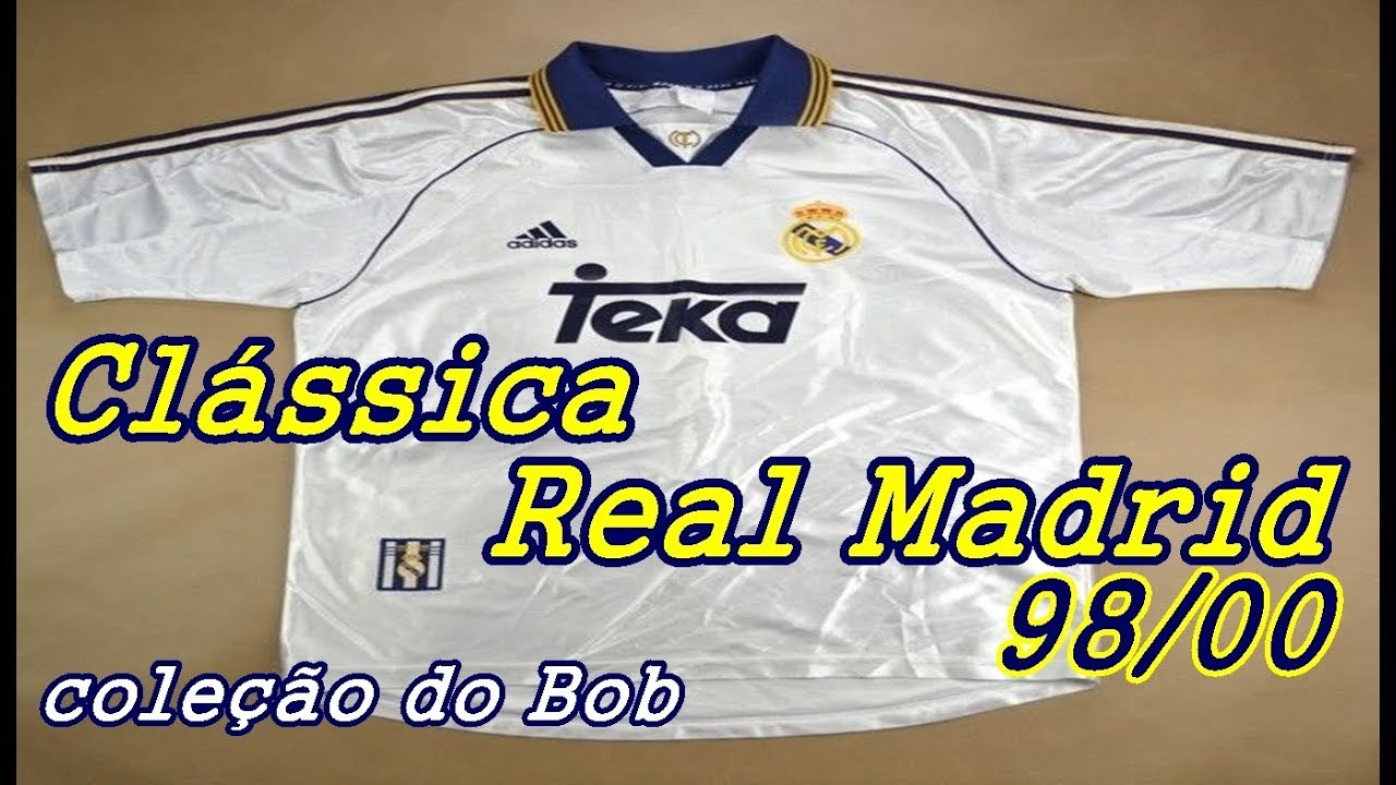 Clássica camisa do Real Madrid 98-00 ( coleção do Bob ) - YouTube 6b4f2aef30aea