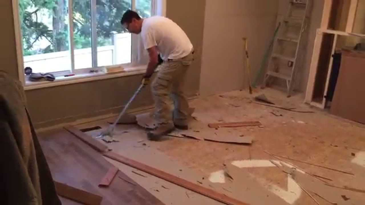 Artillery Tools - Hardwood flooring removal! - YouTube