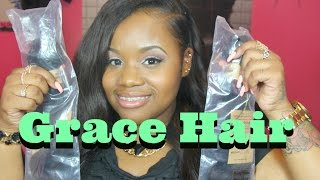 ❤ AliExpress Grace Hair Products Brazilian Body Wave Unboxing/ Initial Review ❤