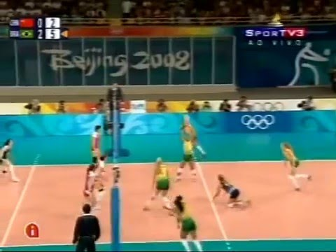 Olympic 2008  Women's volleyball semifinal Brazil-China