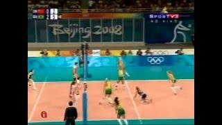 Olympic 2008  Women's volleyball semifinal Brazil-China