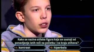 MILIONER-KLINAC OTVORIO MILIONSKO PITANJE pt.2