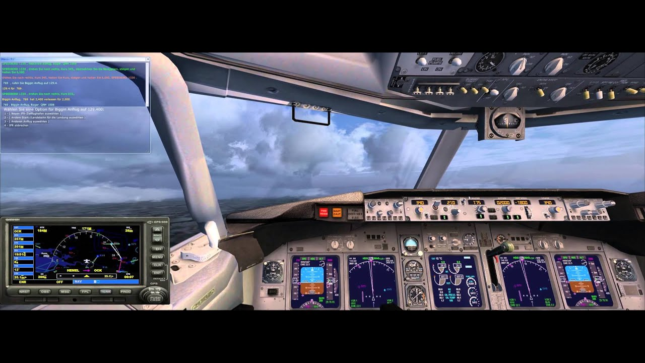 Microsoft Flight Simulator X Gatwick Approach in 21:9/3440x1440/~4k