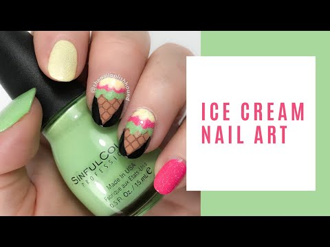 Ice Cream Nail Art Tutorial thumbnail