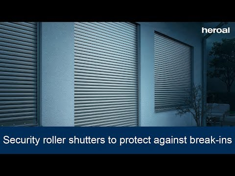 Security roller shutters to protect against break-ins | heroal products