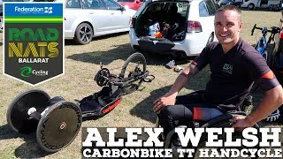 CarbonBike TT Handcycle Tech With Alex WELSH // Para-Cycling