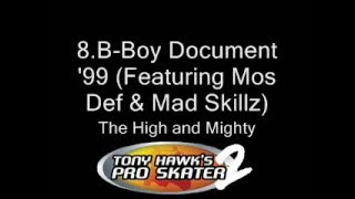 The Top 10 Songs From Tony Hawk's Pro Skater 2