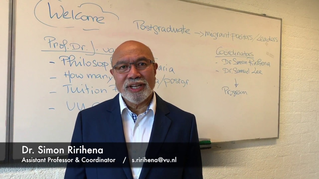 Postgraduate Program for Migrant Pastors and Church Leaders - Dr. Ririhena