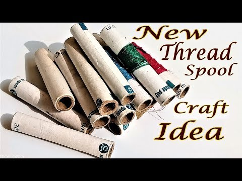 Empty Thread Spool Craft and Reuse Idea | Best Out Of Waste | Hand Made Craft