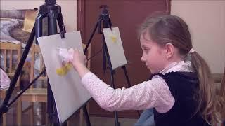 Художник Н Ушакова  Детская студия, проведение урока