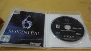 Abrindo o lacre do Resident Evil 6 (pré-venda)