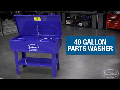40 Gallon Parts Washer - Must-Have for Cleaning Oil & Grease Covered Car Parts - Eastwood