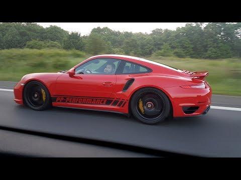 780HP Porsche 991 Turbo S PP Performance - 340 KM/H TOPSPEED AUTOBAHN RUN!!