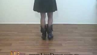 Bootscootin' Boogie Line Dance Beginner video with Liz Collett from DVD vol 1
