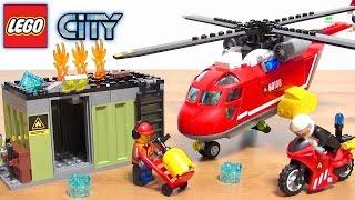 レゴ レゴシティ 消防ヘリコプター 組立レビュー ブロック おもちゃ 60108 LEGO CITY Firefight helicopter Kids toy 乐高玩具 레고 thumbnail