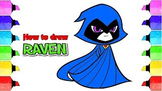 How To Draw Raven From Teen Titans Go | Drawing Extra