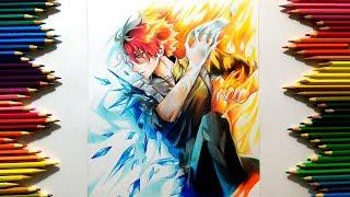 Drawing - Todoroki shoto ( Boku no hero My hero academia ) [ 僕のヒーローアカデミア ]
