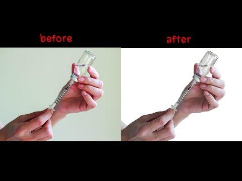 Photoshop - สอนวิธีปรับพื้นหลังให้เป็นสีขาว สำหรับรูปที่มีวัตถุโปร่งใสอยู่