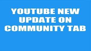 How To Get Community Tab On Youtube urdu hindi yotube new update