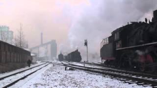 Steam of Jixi Coal Mine Railway China(Jan.2009) 4 中国・鶏西炭鉱鉄道の蒸気機関車(2009年1月) 4