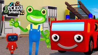 Down At The Garage|Nursery Rhymes & Kids Songs|Gecko's Garage|Educational Songs For Toddlers