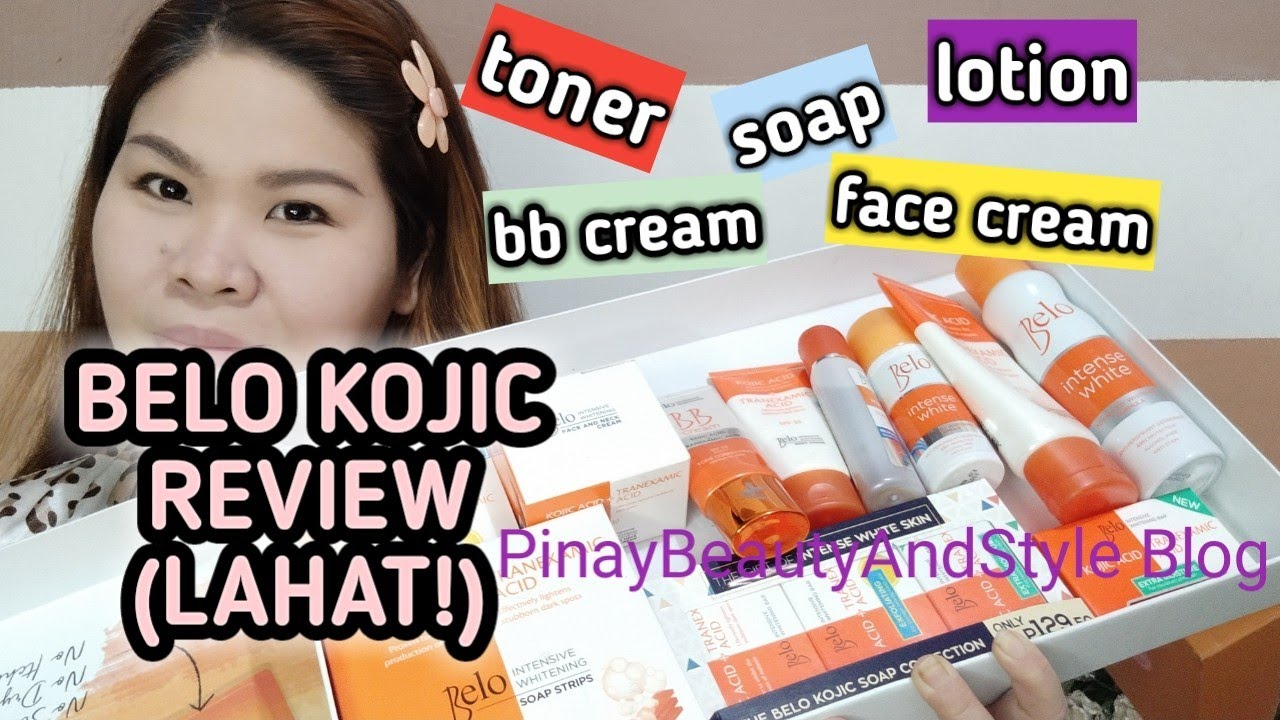 Belo Kojic Acid Skincare REVIEW (Soap Toner Lotion face Cream, LAHAT!)  Pampaputi Products