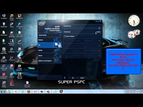 Intel HD 3000 Best Settings For Gaming