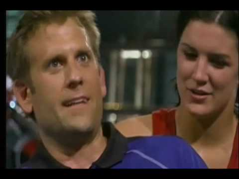 Gina Carano chokes out tv host