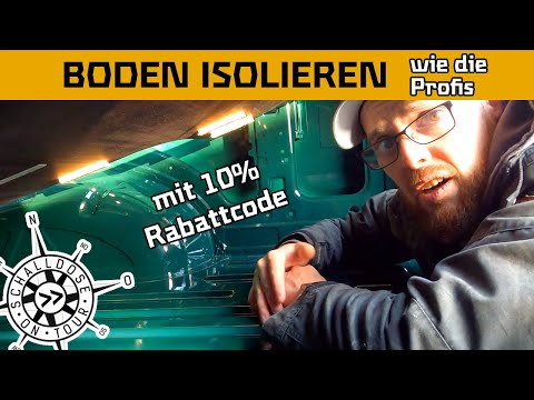 Boden isolieren mit THERMO ISOCELL || MAN TGE || Selbstausbau Campervan