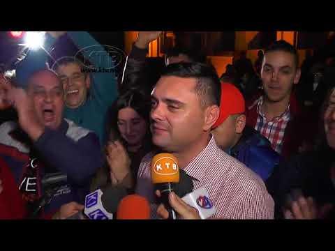 Прослава на победата на Митко Јанчев и ВМРО-ДПМНЕ во Кавадарци