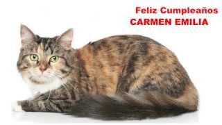 CarmenEmilia Cats Gatos - Happy Birthday