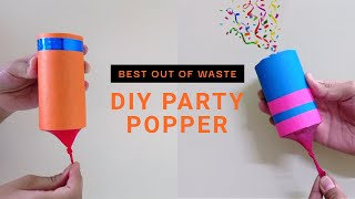 How to make Party Poppers | Best out of Waste - Very Easy