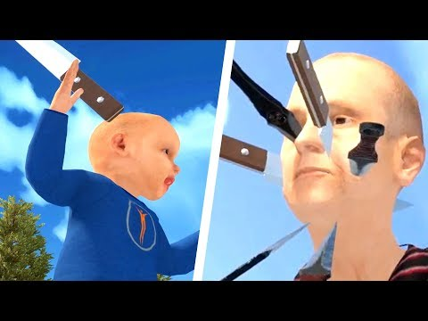 KID THROWS KNIFE INTO GRANDMOTHER'S FACE & K1LLS HER - Granny Simulator