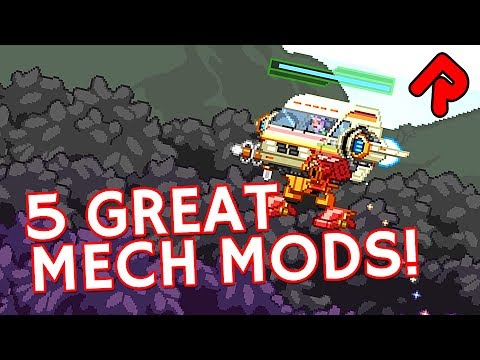 5 Great Starbound Mech Mods: Custom Bodies & Weapons For Starbound 1.3 Mechs!