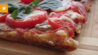 Очень вкусная и быстрая пицца на тесте без дрожжей и яиц. Здоровое питание(ПРОЧИТАЙТЕ ОПИСАНИЕ! Видео-рецепт теста для пиццы: https://www.youtube.com/watch?v=785TMLemRA8 Видео о том, как заморозить зелен..., 2013-09-14T16:54:27.000Z)