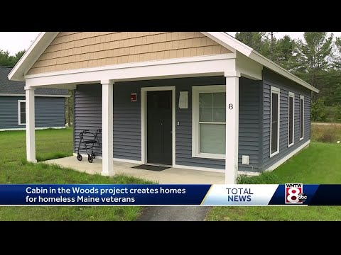 Cabin in the Woods project creates homes for homeless Maine veterans