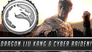 Mortal Kombat X: New Dragon Liu Kang & Cyber Raiden Skins/Costumes Gameplay! (PC Mod Showcase)