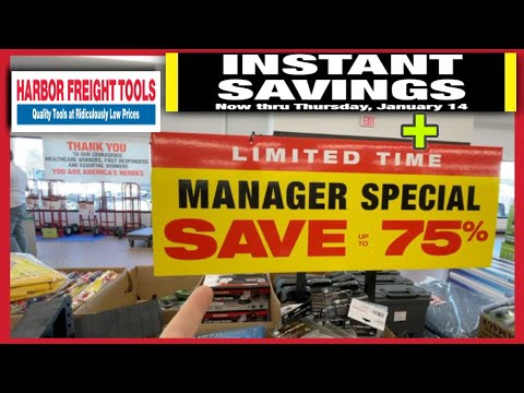 Harbor Freight Manager Special Deals & Instant Savings Up To 75% OFF Until 1/14! Full Walkthrough