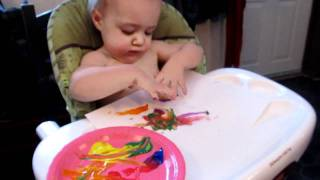 Sadie finger painting 1-16-12.MOV Thumbnail
