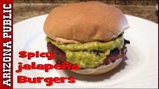 Southwestern Spicy Jalapeño Burgers - Video Recipe