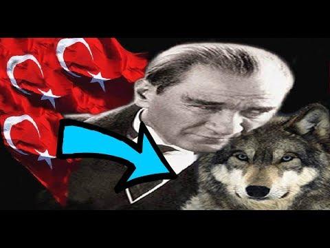 """Türklerde """"Bozkurt"""" Sembolü Ve Mustafa Kemal Atatürk Gerçeği ! (BÖRÜ)"""