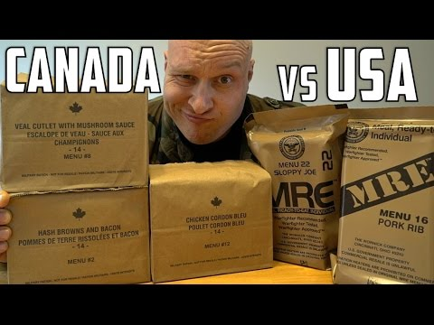 Thumbnail: US vs Canadian Military MRE (Meal Ready To Eat) Taste Test Challenge!