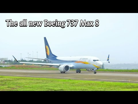 The all new Boeing 737 MAX 8 of Jet Airways landing and takeoff at Mangaluru International Airport