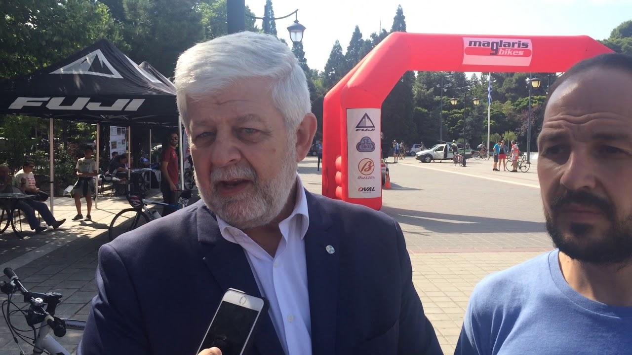 Ο Δήμαρχος Τρίπολης στο 3ος Ποδηλατικός Γύρος Τρίπολης