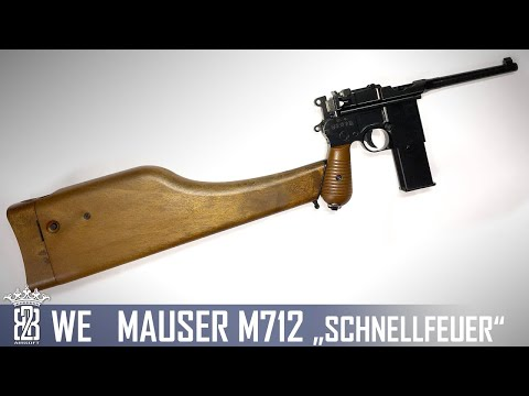 *Airsoft Review *  WE M712 Schnellfeuer | English Subtitles - Deutsch
