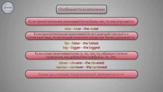 Английский 7 кл Степени сравнения прилагательных
